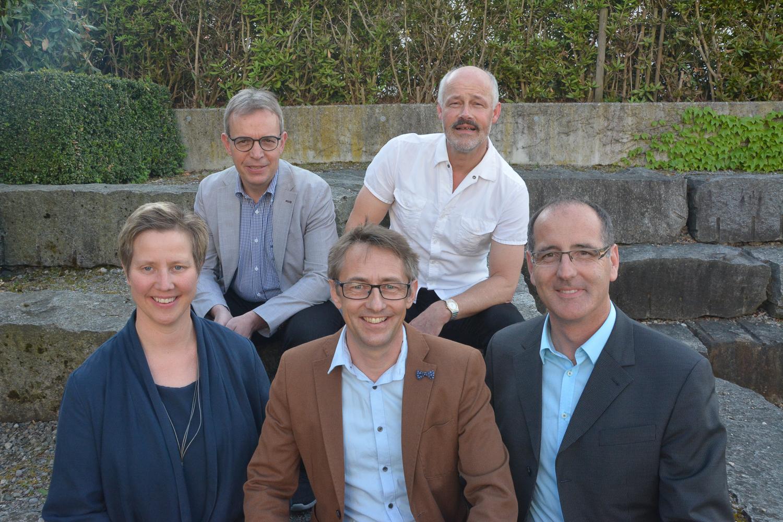 v.l.n.r.: Manuela Kaufmann, Kurt Häfliger, Patric Stocker, Jürg Schmutz, Erich Hausheer